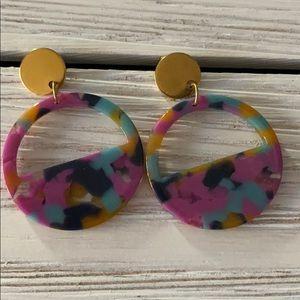Jewelry - CUTE MULTICOLOR Statement Earrings